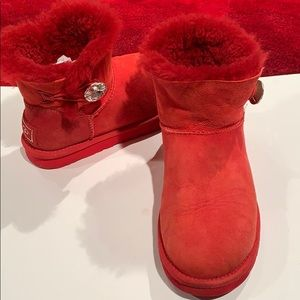 Ugg red Boots with rhinestone